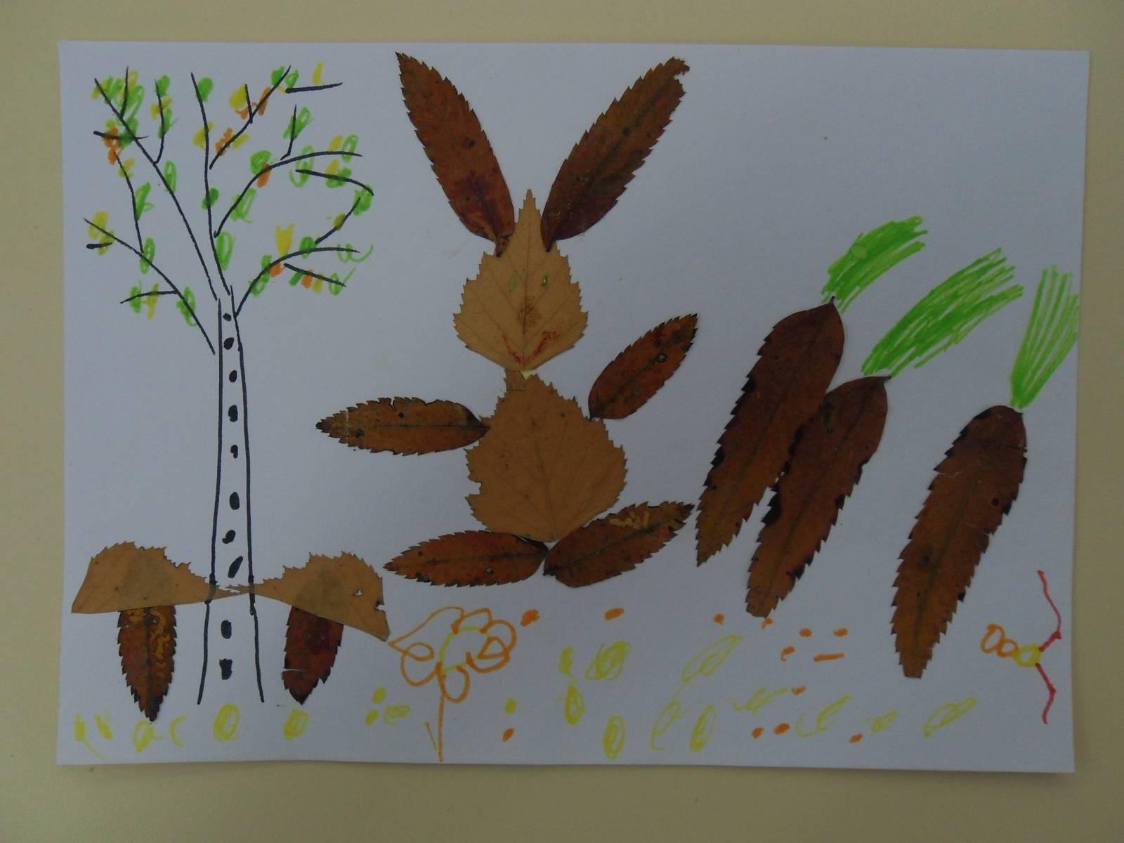 Аппликация из цветной бумаги на тему Осень: пошаговые 99